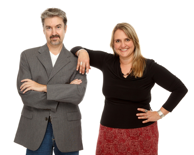 Drew Gerber and Michelle Tennant, founders of Wasabi Publicity, Inc.
