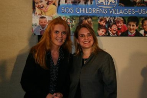 Sarah Ferguson and Michelle Tennant at a NYC press conference.